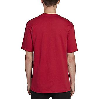 Volcom Men's Crisp Euro Short Sleeve Tee, Engine Red, Large