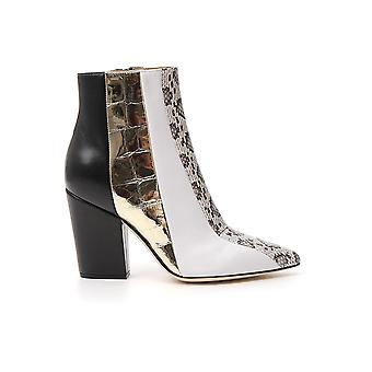 Sergio Rossi A87280mfn7939559 Women's Multicolor Leather Ankle Boots