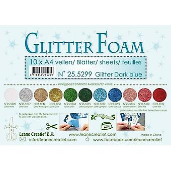 Leane Creatief Glitter Foam Sheets A4 Glitter Dark Blue
