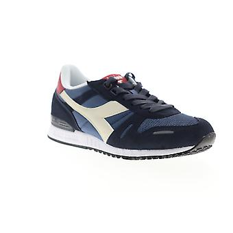 Diadora Titan II  Mens Blue Suede Lace Up Low Top Sneakers Shoes