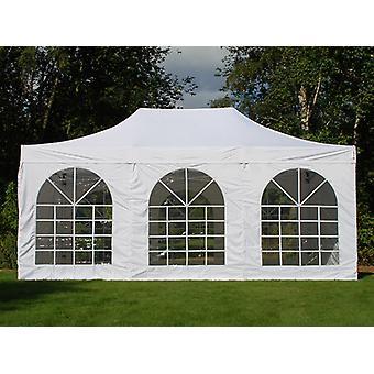 Vouwtent/Easy up tent FleXtents Steel 4x6m Wit, inkl. 4 Zijwanden