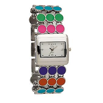 Eton Womens  Fashion Watch, Multicoloured Enamel Disc Bracelet 3107J-ML