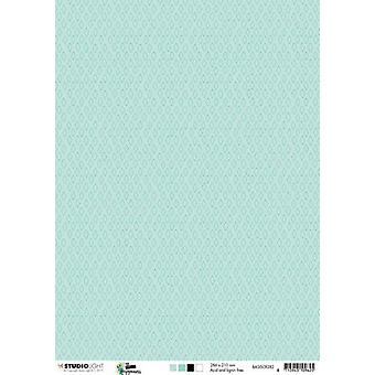 Studio Light Backgroundpaper 10 Sheets A4 Create Happiness nr 282 BASISCR282