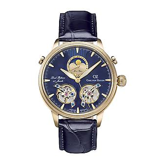 Carl von Zeyten Men's Watch Wristwatch Automatic Durbach CVZ0060GBL