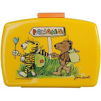 JANOSCH Children's bread tin with plastic yellow insert