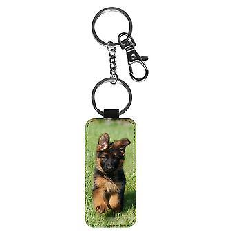 الألمانية الألمانية الراعي الكلب الكلب جرو سلسلة المفاتيح