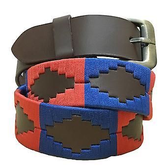 carlos diaz unisex  brown leather  polo belt cdupb114