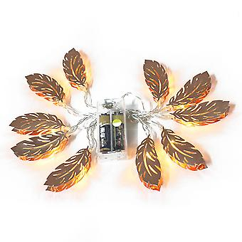 LED string lights, decorative fairytale wedding parties, courtyard, bedroom or shop decoration, photo decoration, iron leaf battery mode