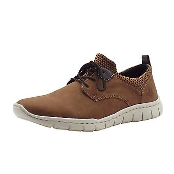 Rieker B8753-26 Timo Mens Smart Casual Lace-up Sneakers In Brown