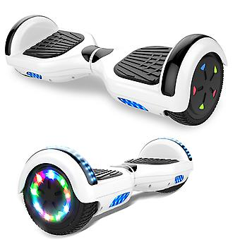 Right Choice Hoverboard Self Balanced Electric Scooter - construit en haut-parleurs Bluetooth - LED Wheel-White