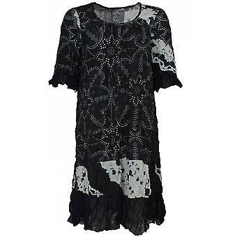 Lauren Vidal Patterned Crushed Jersey Dress
