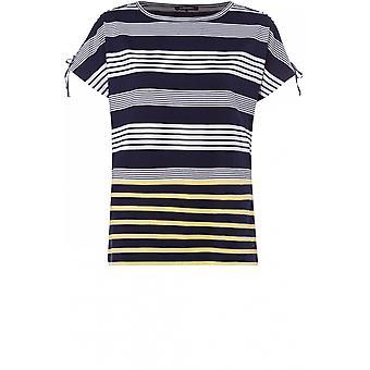 Olsen Navy & White Striped T-Shirt