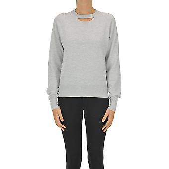 Maison Margiela Ezgl038123 Women's Grey Cashmere Sweater