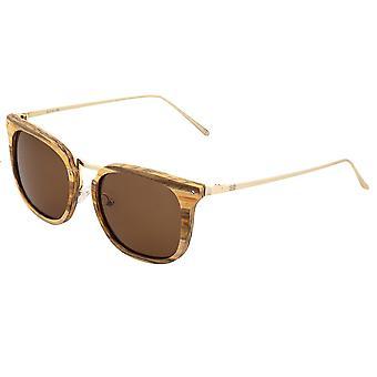 Earth Wood Nosara Polarized Sunglasses - Apple Wood/Brown