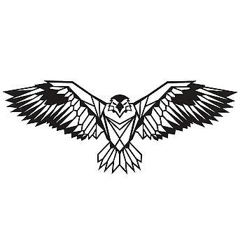 Decorazione Da Parete Eagle Color Nero in Acciaio 100x0,2x44 cm
