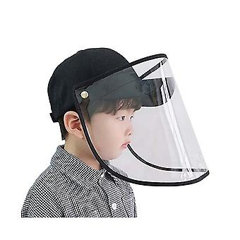 Utomhus Hat Anti Dimma Damm Saliv Cap Full Face Shield Cover Kids Svart