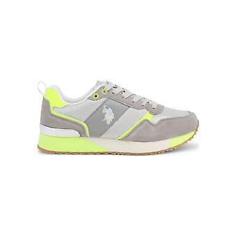 U.S. Polo Assn. - Shoes - Sneakers - FRIDA4103W8_MS1_LIGR-YEL - Women - gainsboro,greenyellow - EU 40