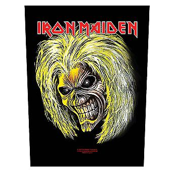 Iron Maiden Back Patch Killers Eddie Head band logo Official New (36cm x 29cm)