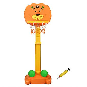 Height Adjustable 3-in-1 Kids Basketball Hoop Stand Set Free Standing tiger basketball stands