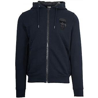 Lagerfeld Navy Sweatshirt à capuchon