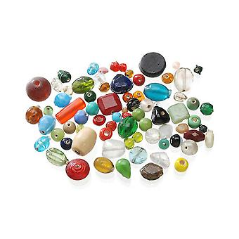 Assorted Glass Bulk Buy Beads for Crafts - 450g