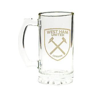 West Ham United FC Stein pint Glass
