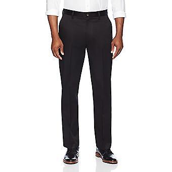 KNAPPET NED Menn's Avslappet Passform Flat Front Stretch Non-Iron Dress Chino Bukse,...