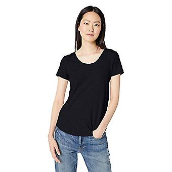 Marque - Daily Ritual Women-apos;s Lived-in Cotton Slub Short-Sleeve Scoop N...