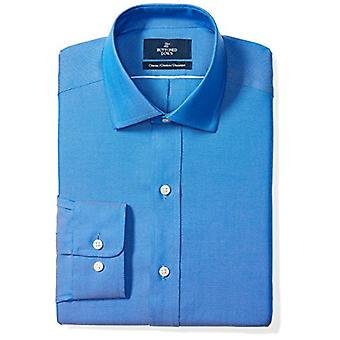 "BUTTONED DOWN Men's Classic Fit Spread-Collar Solid Non-Iron Dress Shirt (No Pocket), French Blue, 15"" Neck 33"" Sleeve"