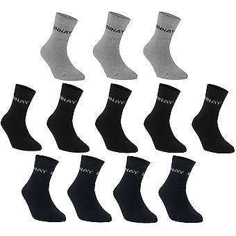 Donnay Quarter Socks 12 Pack Kinderen