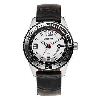 ORPHELIA Mens analoog horloge smid zwart Silicone 153-6706-84