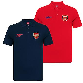 Arsenal FC officiella Fotboll Gift Boys Crest Polo Shirt Röd