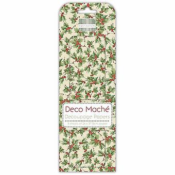 Första upplagan jul Deco Mache - Holly