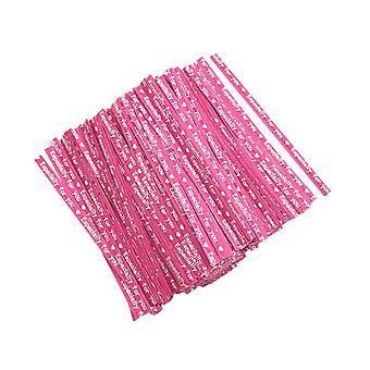 700PCS Opakowanie do pieczenia Kraft Papier drutu różowy
