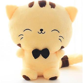 Ładny kawaii kot z kokardką pluszowe lalki zabawki - nadziewane miękkie poduszki lalki