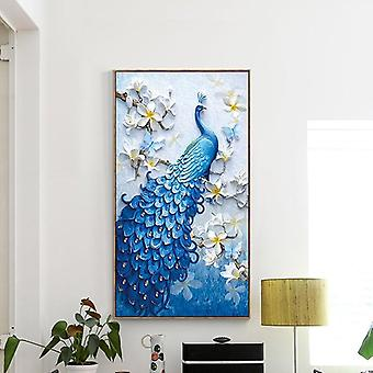 5d Diamant Malerei Kit-Pfau geformt, Stickerei Kunst