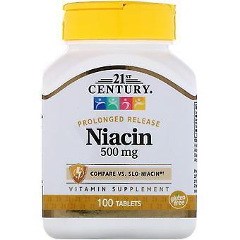 21e siècle, Niacine, Libération prolongée, 500 mg, 100 comprimés