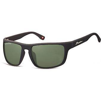Sunglasses Unisex Cat.3 matt black/green (SP314A)