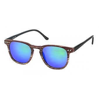 Sonnenbrille Unisex  Wayfarer   blau/dunkelbraun (20-206A)