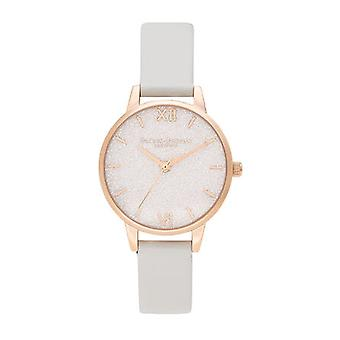 Olivia Burton Watches Ob16gd50 Glitter Dial Vegan Blush & Pale Gold Ladies Watch
