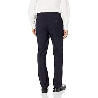 BUTTONED DOWN Men's Classic Fit Stretch Wool Dress Pant, Navy, 40W x 29L