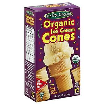 Let's Do Organic Ice Cream Cones Cake Style