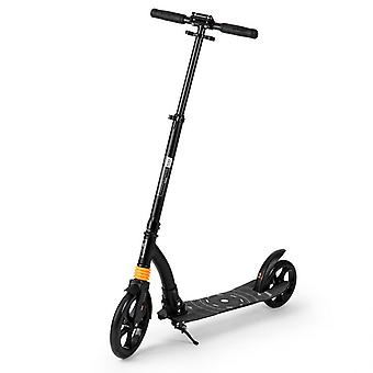 Foldable aluminium scooter with shock absorber black 98x36x106 cm