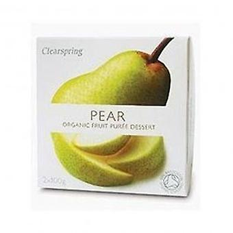 Clearspring - Fruit Puree Pear 2 X 100g