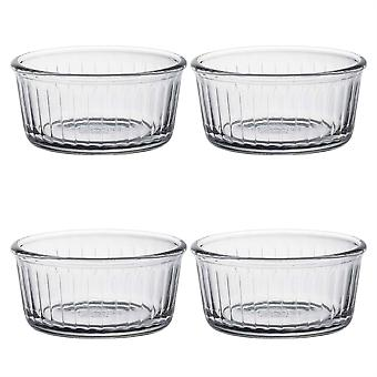 Duralex Oven Chef Glass Ramekins for Crème Brulee, Desserts - 8.5cm - Pack of 4