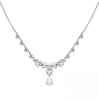 Diamonfire Silver White Zirconia Necklace N4236