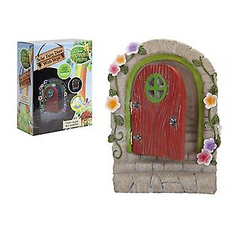 The Faries Enchanted Garden Solar Fairy Door With Hinges And Steps