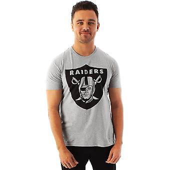 NFL Football Las Vegas Raiders Logo Men's Game Short Sleeve Grey T-Shirt