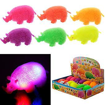 Fun Kids Light Up Squidgy Rhino Puff Pet X 1 Pack