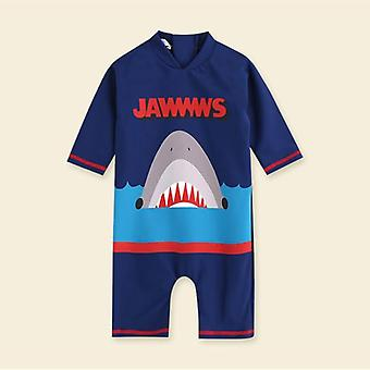 Baby Boys Swimsuit Beachwear One Piece Kids Long Sleeve Swimwear Dinosaur Suit